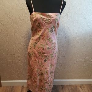 Hype Pink and green spaghetti strap dress sz M